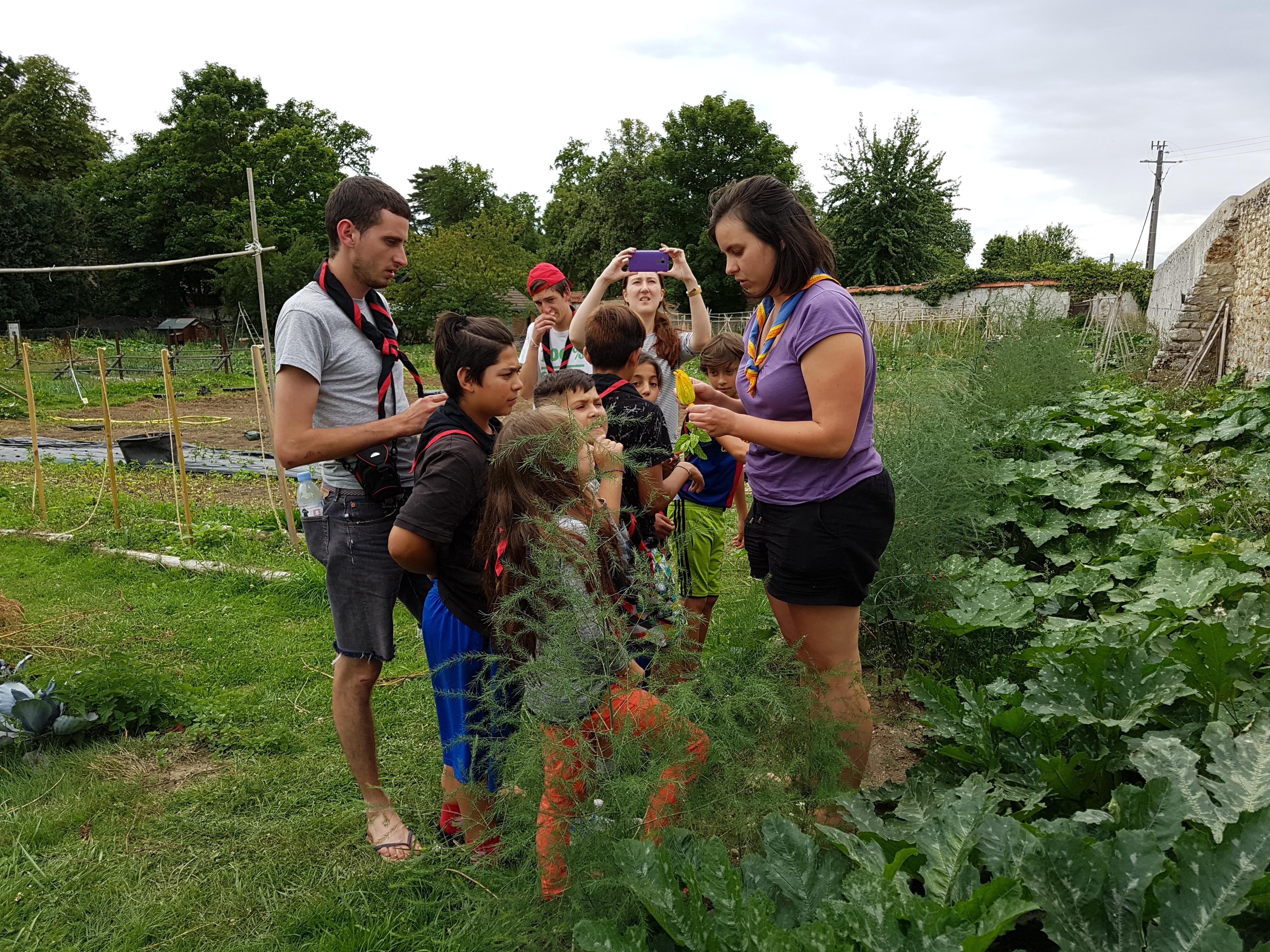 Les volontaires en service civique des projets romcivic et scolarisation de l'association les enfants du canal ont emmené des enfants issus des bidonvilles en camp scout.